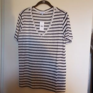Splendid brand black striped Tee Size Small